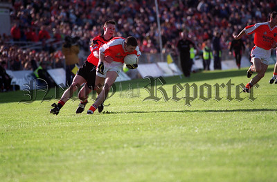 Oisín McConville on the attack for Armagh
