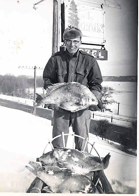 """. Continues KIM PRAYFROCK of Maplewood: \""""This photo is from catching sheepshead on the St. Croix River, sometime in the mid-1950s.\"""""""