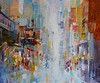 "Life in Motion by Torabi, 36""x42"" acrylic mixed medoa painting on loose canvas"