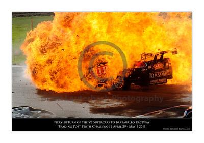 V8 Fiery Crash Barbagallo Raceway 2011
