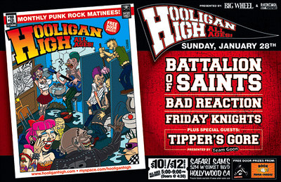 Hooligan High Presents - Battalion of Saints, Bad Reaction and Tippers Gore - at Safari Sam's - January, 28, 2007 - Hollywood, CA