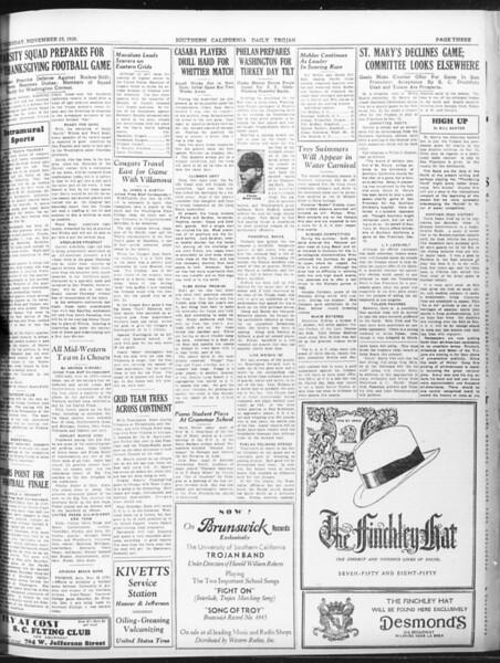 Daily Trojan, Vol. 22, No. 52, November 25, 1930