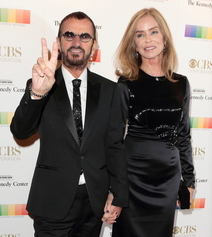 . Ringo Starr of The Beatles, left, and his wife Barbara Bach attend the 39th Annual Kennedy Center Honors at The John F. Kennedy Center for the Performing Arts on Sunday, Dec. 4, 2016, in Washington, D.C. (Photo by Owen Sweeney/Invision/AP)