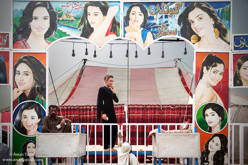 Transgender performing in circus in Punjab Pakistan