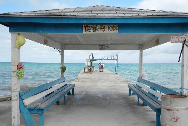 Travellers Rest pier on Tarpum Bay, Eleuthera