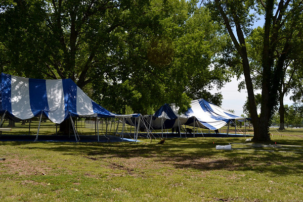 Tent Set-up at Country Stampede 2012