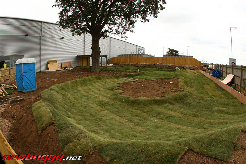 The outdoor 10th electric offroad turf track under construction