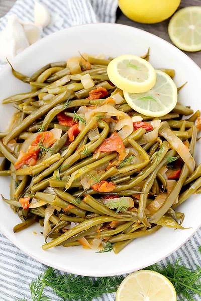 Greek Green Beans Fasolakia