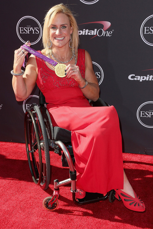 . Paraolympic athlete Muffy Davis attends The 2013 ESPY Awards at Nokia Theatre L.A. Live on July 17, 2013 in Los Angeles, California.  (Photo by Frederick M. Brown/Getty Images)