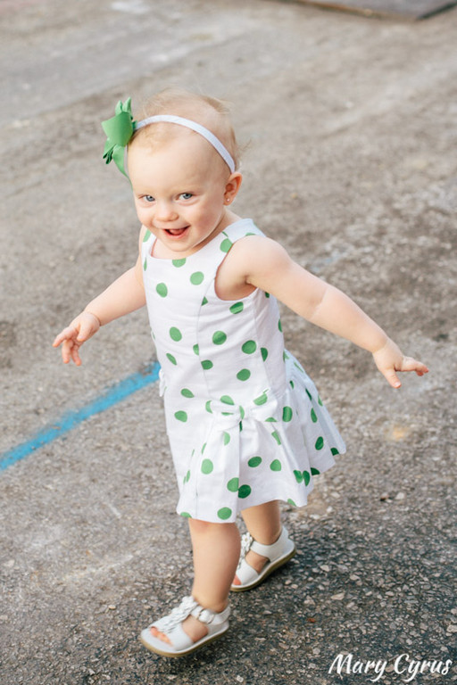 18-Month-Old Lorelai in Downtown McKinney, Texas. Photo by Mary Cyrus - Portraits & Weddings in Dallas & Beyond.