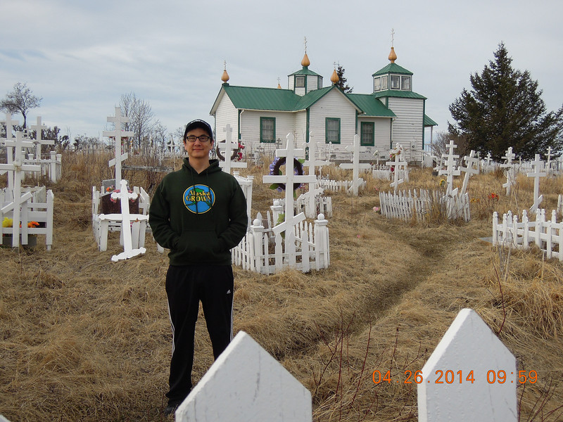 Brian at the Ninilchik cemetary