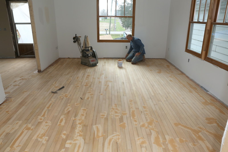 Jay patching before final sanding