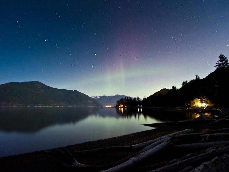 Aurora borealis @ Porteau Cove