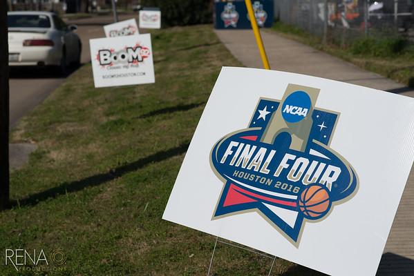 NCAA Final Four Houston: Blue Triangle Community Service Project