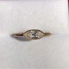 .44ct Antique Marquise Cut Diamond Bezel Ring GIA D 15