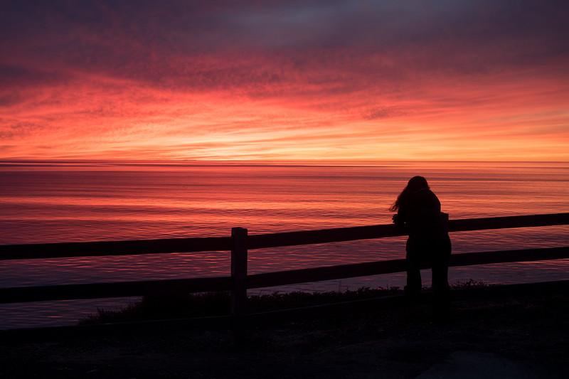 Vicente Bluffs Reserve, Sunset