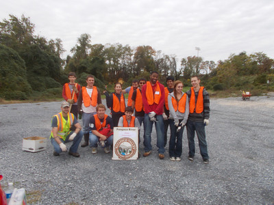 10.20.12 Tree Maintenance Along 2 Sites Along Herbert Run in Arbutus (UMBC & Arbutus Middle School)