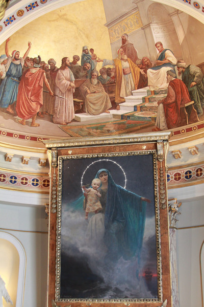Murals and painting inside the Achilleion Palace.