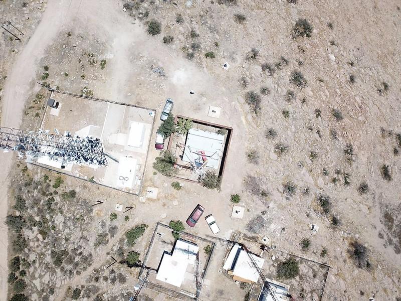 Drone view top of vault 200 foot