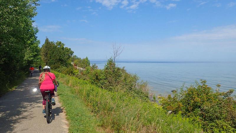 Little Traverse Wheelway view Lake Michigan