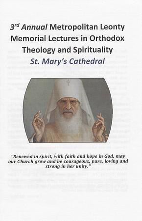 3rd Annual Metropolitan Leonty Memorial Lecture