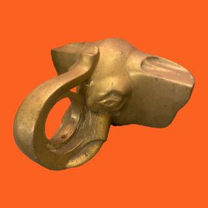 Brass Elephant Rail Bracket