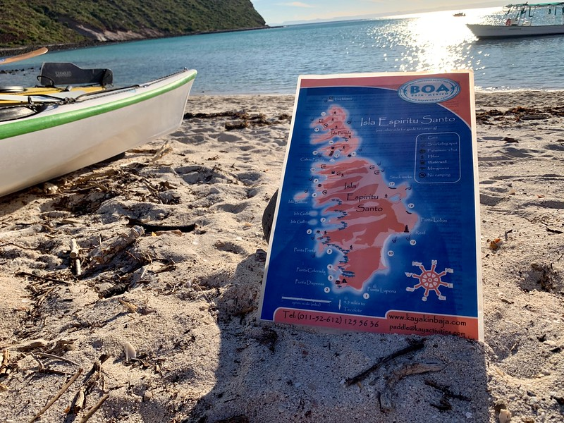 Isla Espiritu Santo Campsite Map from BOA