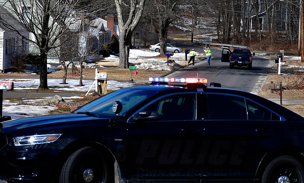 2/26/2019 Mike Orazzi   Staff Terryville police and fire while checking out reports of a wires down on Tuesday afternoon on Matthews Street in Terryville.