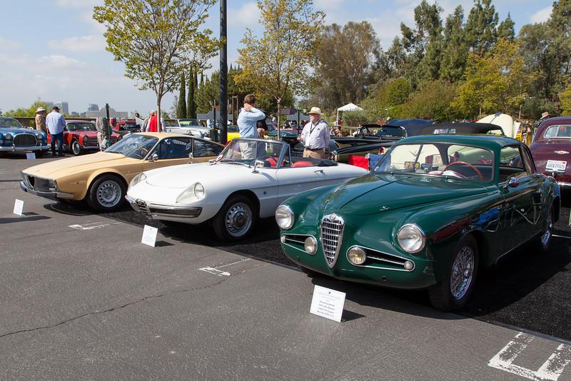 Alfa Romeos - (L-R)  1973 1600 Junior Zagato,1967 Duetto,1954 1900 CSS Zagato