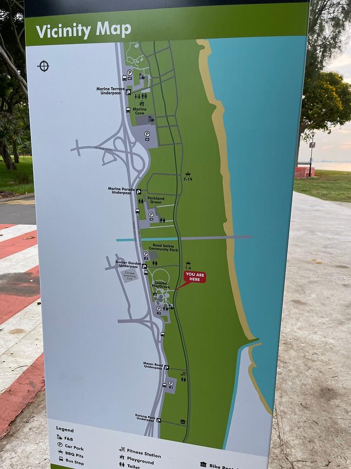 Area B of East Coast Park Map