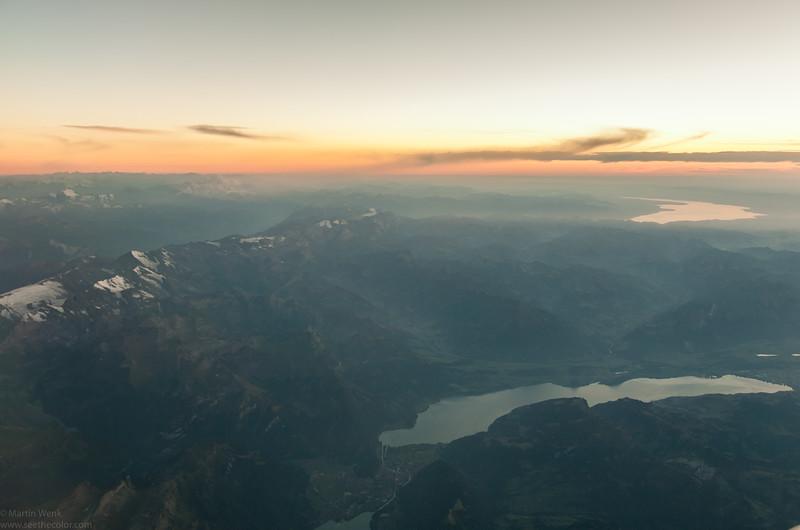 Lake Thun and the twon of Interlaken