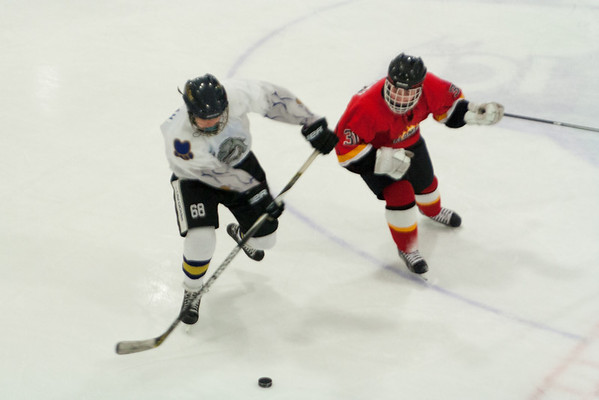 Lehigh Valley Flames Red at Hatfield Ice Dogs 16A White 2-9-2014