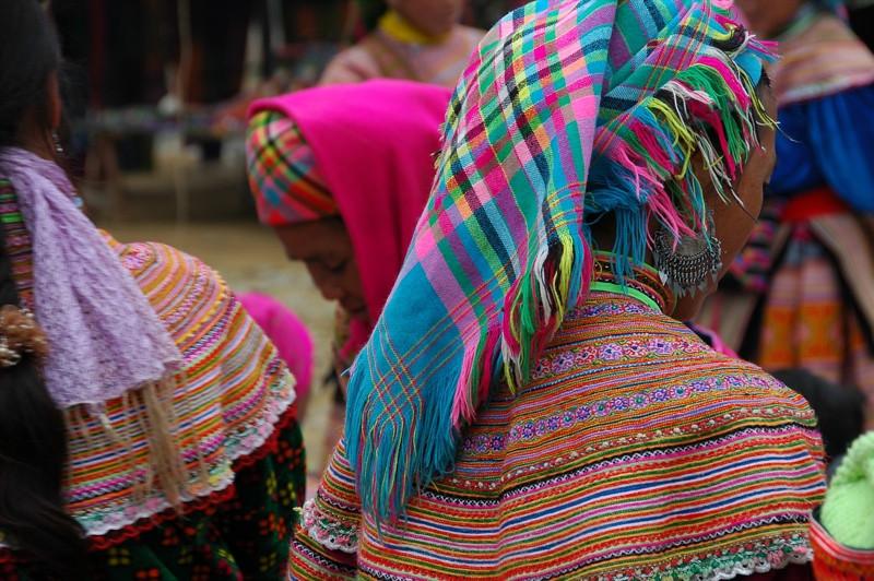Scarves and Shawls - Bac Ha, Vietnam