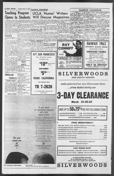 Daily Trojan, Vol. 54, No. 86, March 21, 1963
