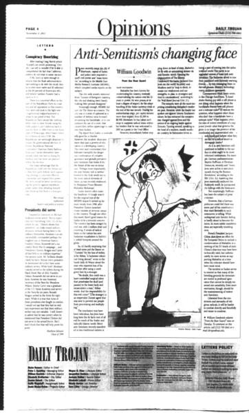 Daily Trojan, Vol. 150, No. 49, November 04, 2003