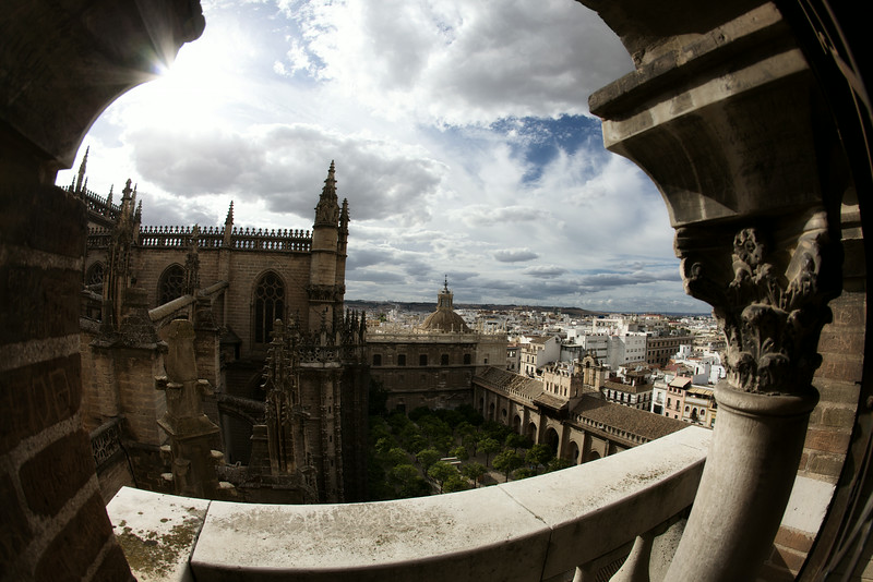 Seville, Spain: Catedral de Sevilla, view from halfway up the bell tower  © Claire McAdams Photography 2010