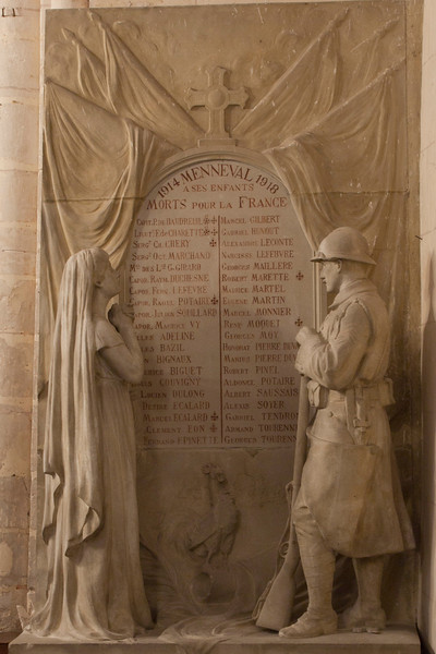 Menneval, Saint-Pierre Church, 1914-1918 War Memorial