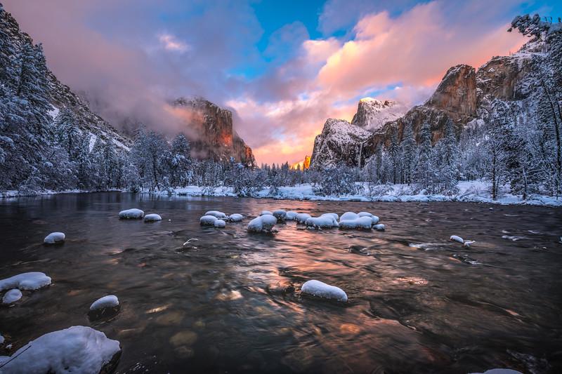 Yosemite Winter Symphony 2: Yosemite National Park Fine Art Landscape Nature Photography