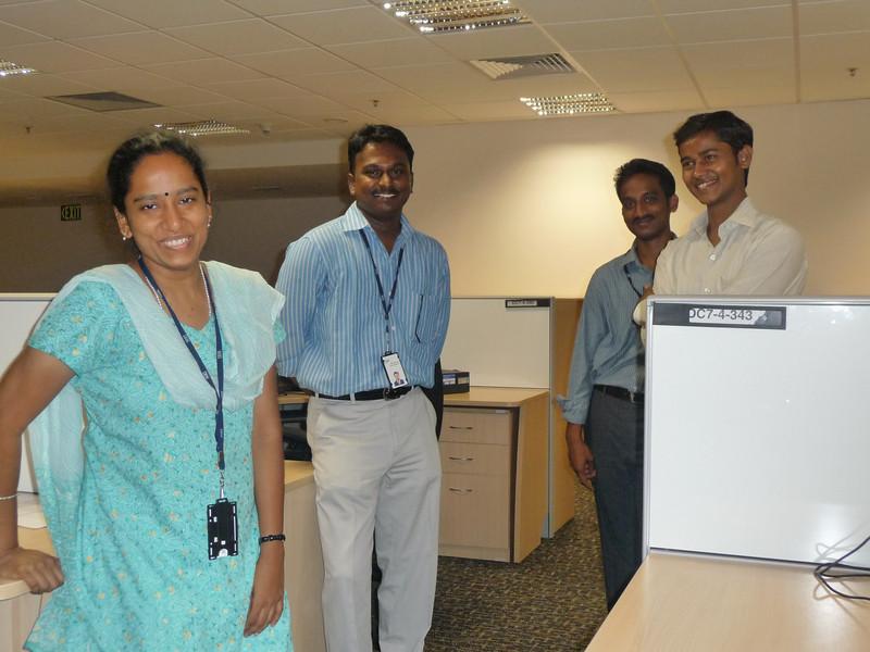 four of the India Unix team members