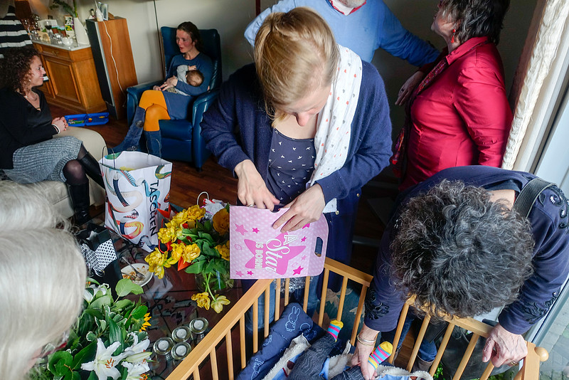 Oostzaan. 29 april 2016, babyshower Ilse, dochter van Jeroen en Marie, foto: Katrien Mulder
