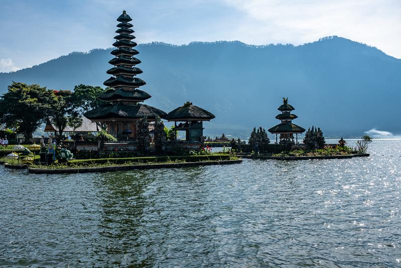 Pura Ulun Danu Beratan the famous water temple on Lake Bratan Bali Indonesia