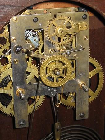 Waterbury Oak Kitchen Clock with Steel Plate Movement