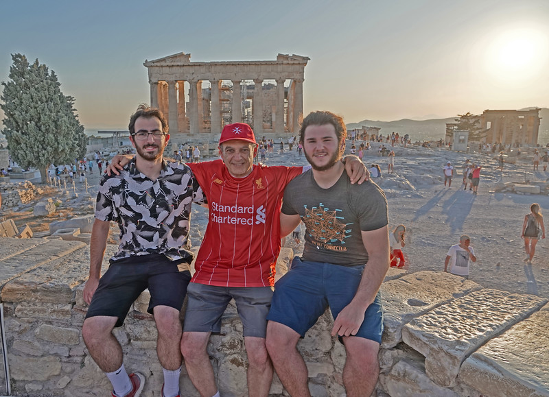 The Parthenon in the background