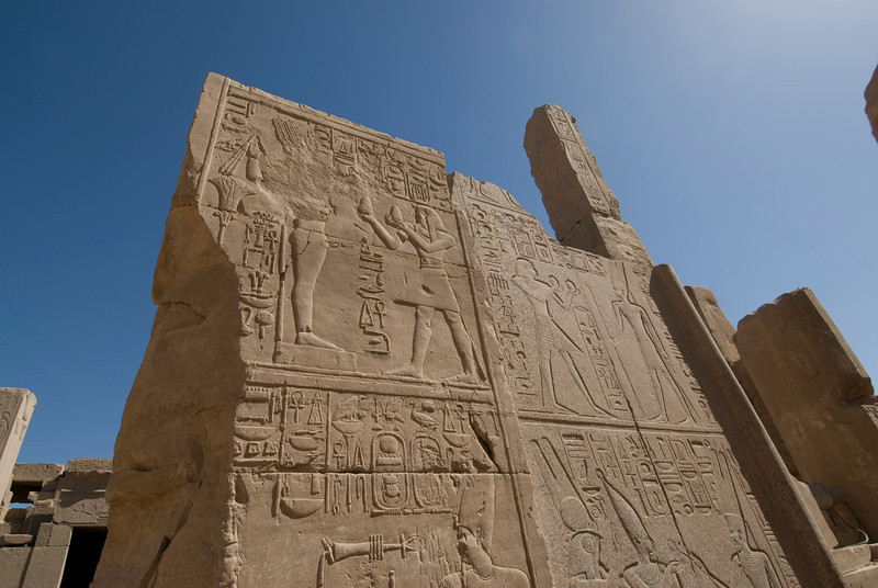 Herioglyphic wall of Karnak Temple - Luxor, Egypt