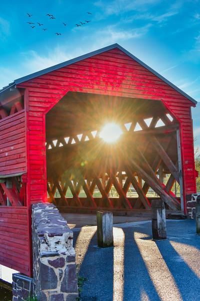 Sachs Covered Bridge - morning view