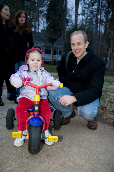 3 year old Sophia poses with her father, Chris Mullins.