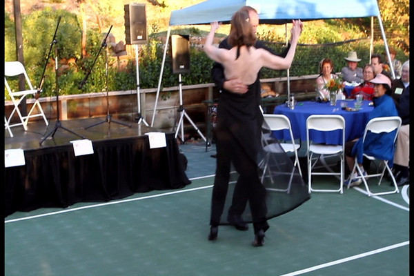 """We were fortunate to have a fine demonstration of a """"called"""" dance routine, although it was kind of cold for her outfit.  Greet fun. (video)"""