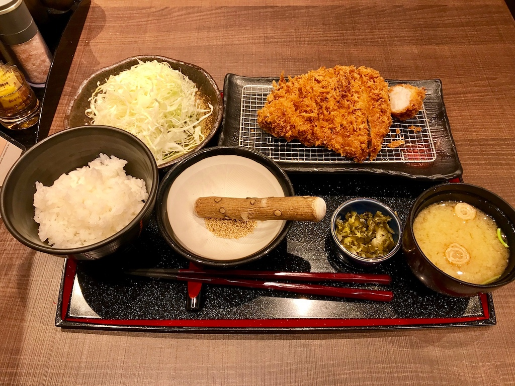The tonkatsu pork loin set at Saboten in Terminal 1.