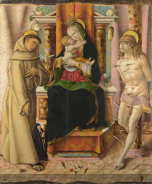 The Virgin and Child with Saints Francis and Sebastian