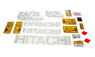 HITACHI ZAXIS 130 - 5 LCN SERIES COMPLETE DECAL SET